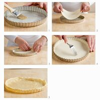 Making a puff pastry tart base