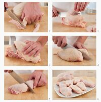 Jointing a chicken