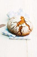 A loaf of sourdough rye bread