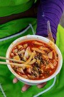 Shan noodles (rice noodle dish, Thailand)