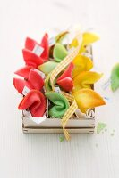 Colourful fortune cookies