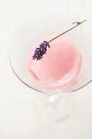 Rose wine sorbet with lavender