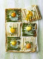 Asparagus and egg tart