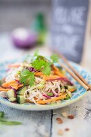 Rice noodle salad with carrots (Asia)
