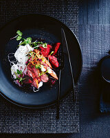 Duck with chilli blood plum sauce