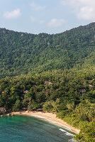 Hinter den Bäumen versteckt sich 'The Sanctuary' Resort, Koh Phangan, Thailand