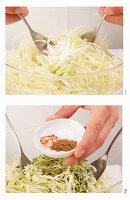 Krautsalat zubereiten