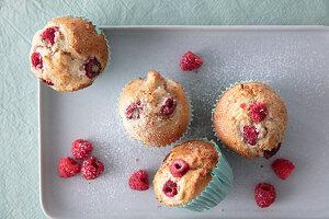 Vegane Himbeer-Muffins