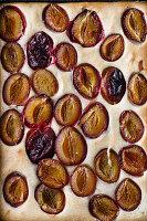 Veganer Pflaumenkuchen (bildfüllend)