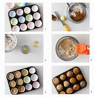 Muffins aus veganem Rührteig zubereiten