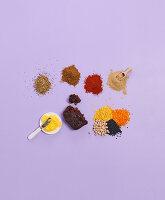 Zutaten in der indischen Aromaküche