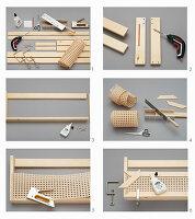Wandregal aus Holz und Wiener Geflecht herstellen