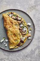 Omelett mit Pilzen und Feta