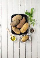 Kartoffelsorten - mehligkochend, Süßkartoffel, festkochend