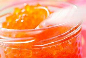 Forellenkaviar im Schraubglas