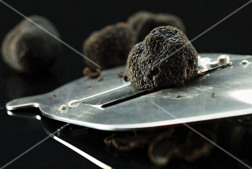 Black Truffle Mushrooms with a Slicer