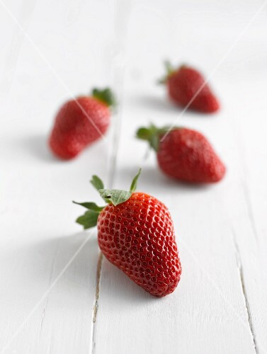 Four strawberries