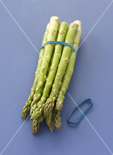 A bunch of green asparagus
