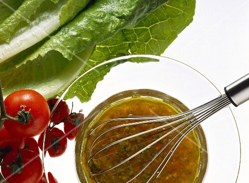Vinaigrette Sauce in Glass Bowl