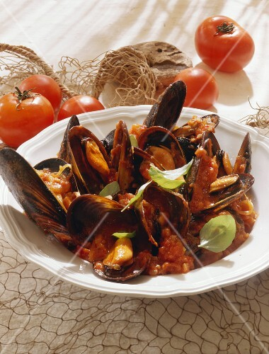 Mussels in Tomatoe Sauce