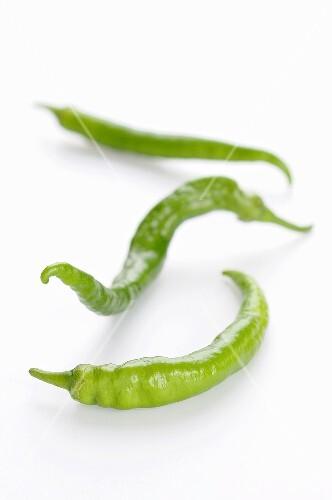 Three green chillies