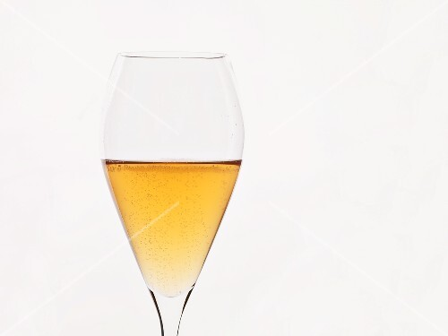 A glass of cider