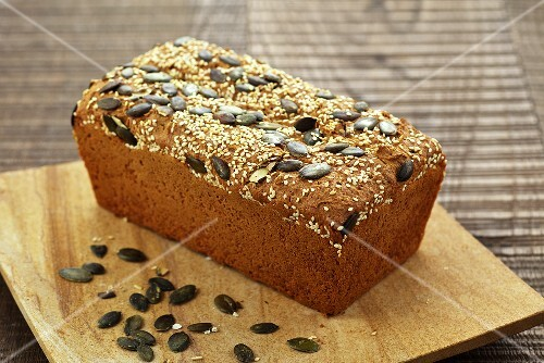 Pumpkin seed bread with sesame