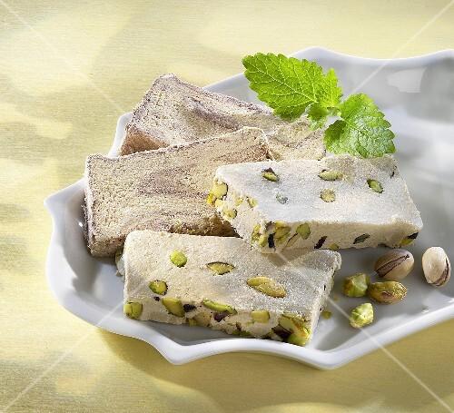 Halva with pistachios (Turkey)
