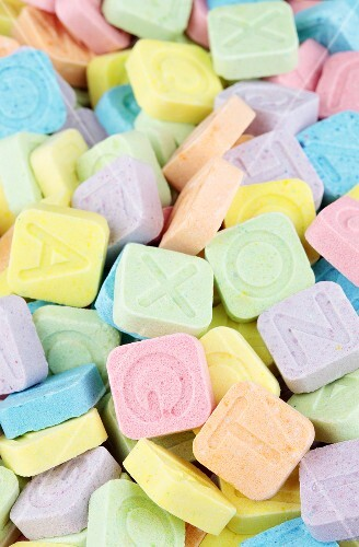 'Pop Rocks' in a variety of pastel colors