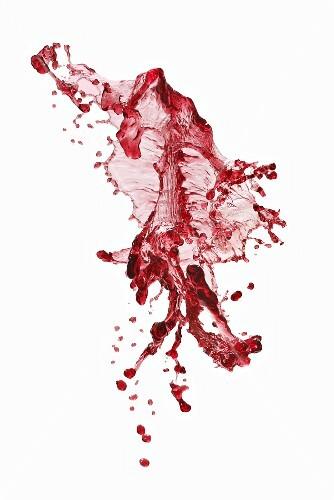A splash of red wine
