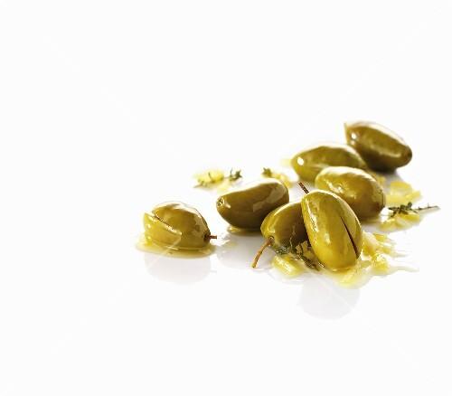 Green olives, sliced