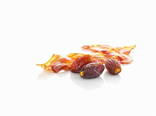 Dates and fried bacon