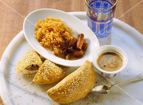 Iranian almond pasties and Tunisian caramel rice