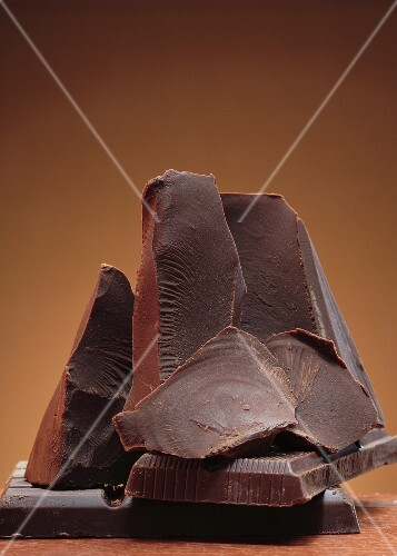 Several pieces of chocolate