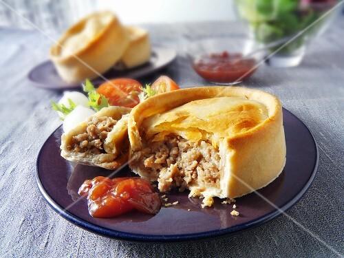 Scotch pie (Minced lamb pie, Scotland)