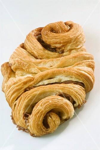 A Franzbrötchen (Breakfast pastry from Hamburg)
