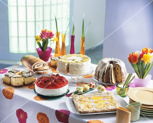 Easter cake buffet (Poland)