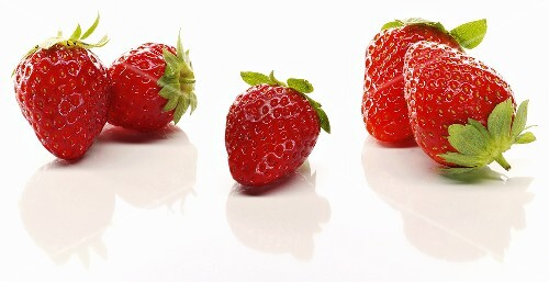 Five fresh strawberries