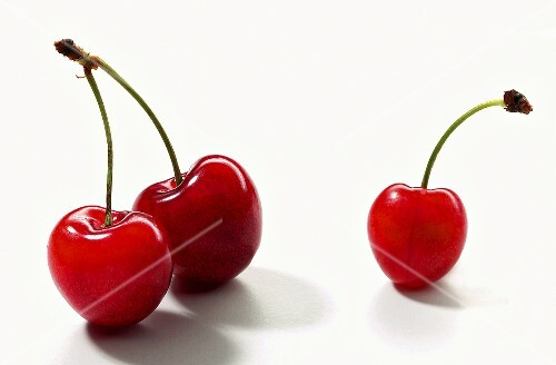 Three morello cherries