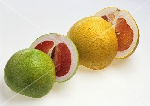 Pomelo and pink grapefruit
