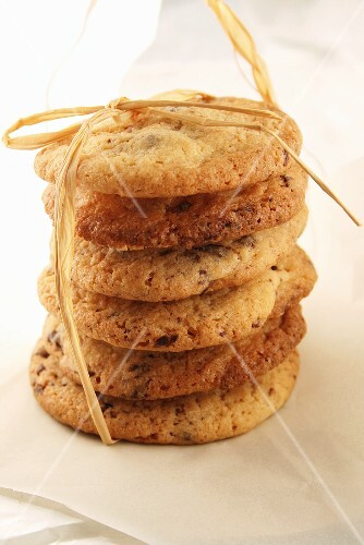 Cookies, stacked and tied with string