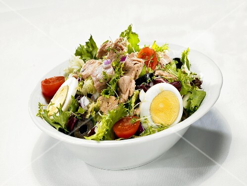 Tuna and egg salad