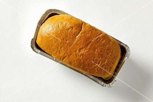 Brioche in aluminium baking dish