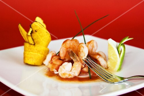 Ceviche (Cold shrimp salad, Peru)