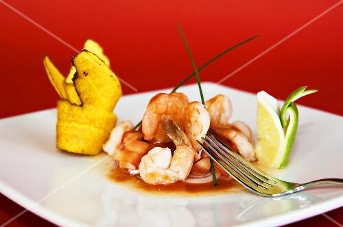 Ceviche (Cold shrimp salad, Peru)
