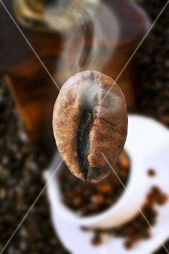 Roasted coffee bean (steaming)