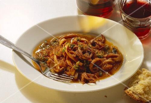 Polpi alla napoletana (octopus in tomato sauce), Italy