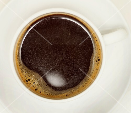 A cup of freshly-made, black coffee