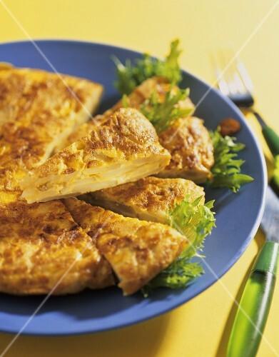 Tortilla española (Spanish potato tortilla)