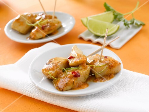 Caramelised chicken with lime (orange background)